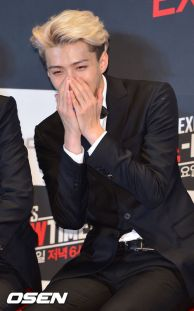 sehun in laughing mess