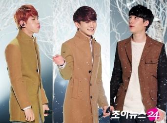 Baekhyun, Chen, D.O. in the snow
