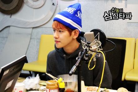 Baekhyun listening carefully