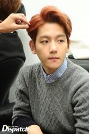 Baekhyun prepping his hair