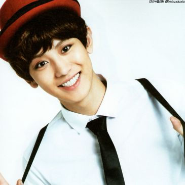 Chanyeol in a tie