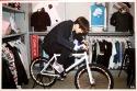 Chanyeol rides a bike