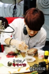 Chen passionately making rice balls