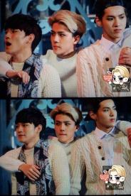 Chen, Sehun & Kris in sweaters