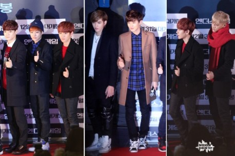 Chen, Xiumin, Baekhyun, Kris, Chanyeol, Baekhyun, Tao