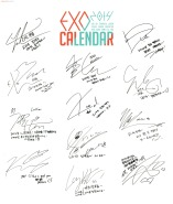 EXO Signatures_2014 Calendar