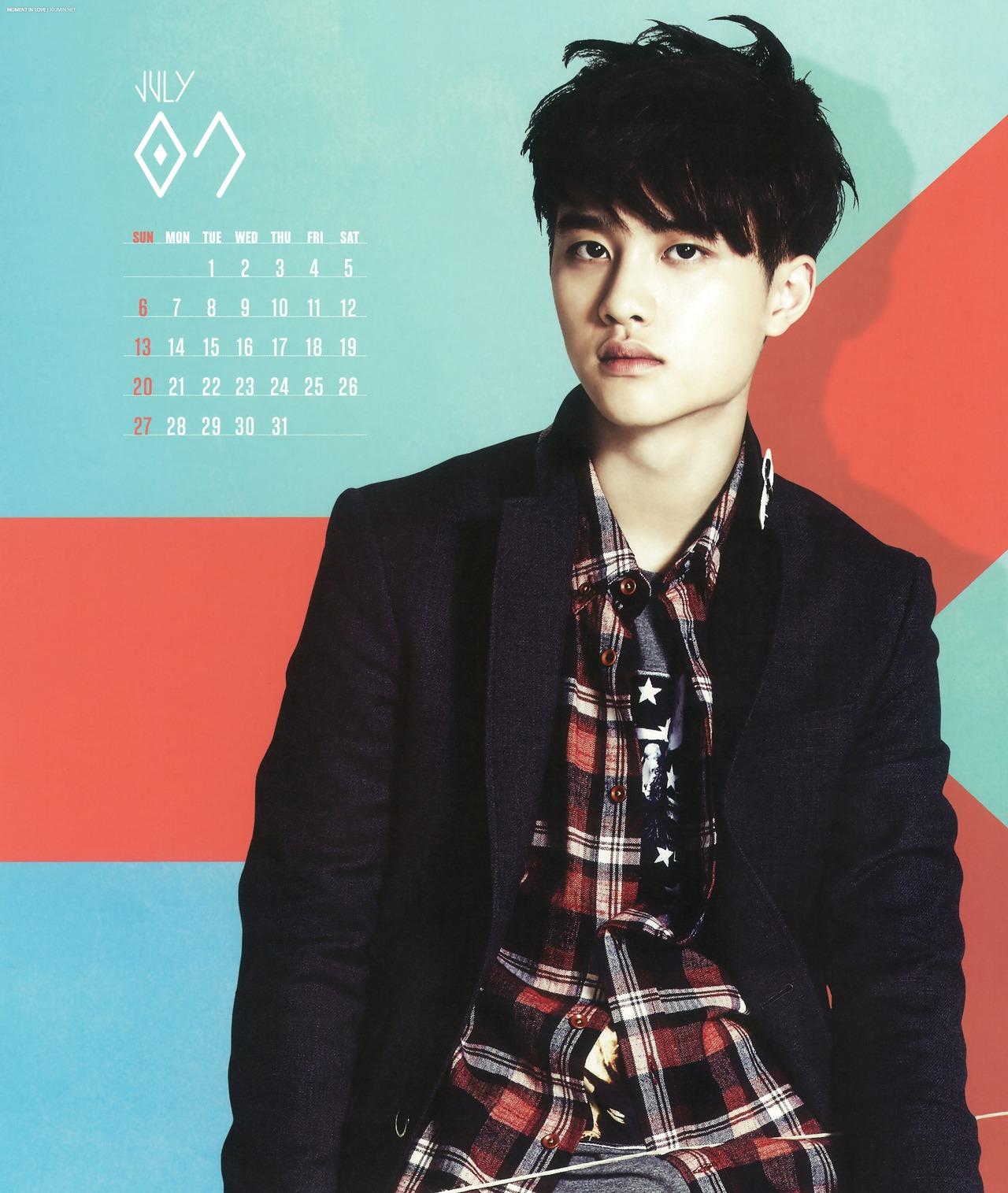 hq scans exo 2014 official season�s greetings calendar