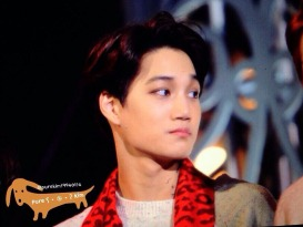 Kai in a Red Scarf