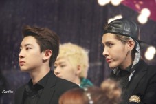 Kris & Chanyeol in black suits
