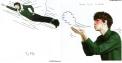 Kris Flying & Sehun Blowing Air