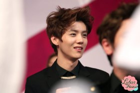 Luhan in a black suit