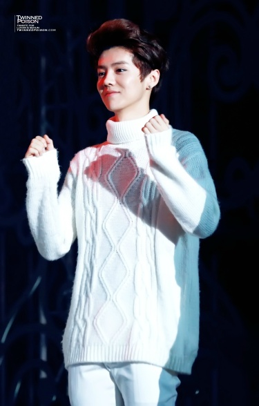 Luhan in a sweater