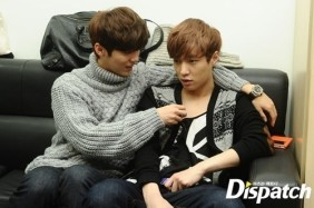 Luhan playing with Yixing's Necklace