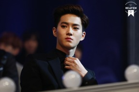 Suho in a Black Suit