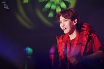 Baekhyun in a red vest