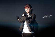 Baekhyun in black and white