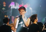 Chanyeol and pink Minnie Mouse ears