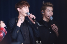 Chanyeol & Kris in all black