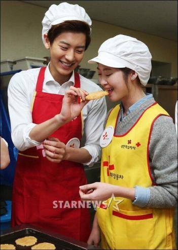 Chanyeol & Lucky girl