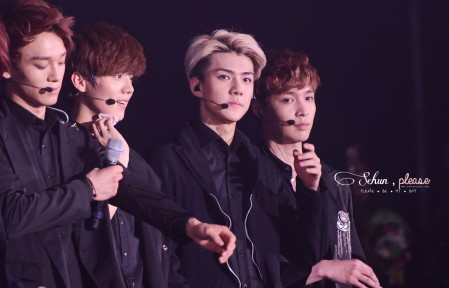 Chen, Luhan, Sehun & Yixing