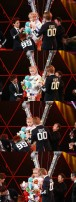 EXO-M putting stuff animals on Tao