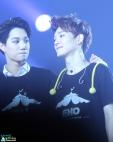 Kai & Chen in black EXO SMTOWN WEEK t-shirts