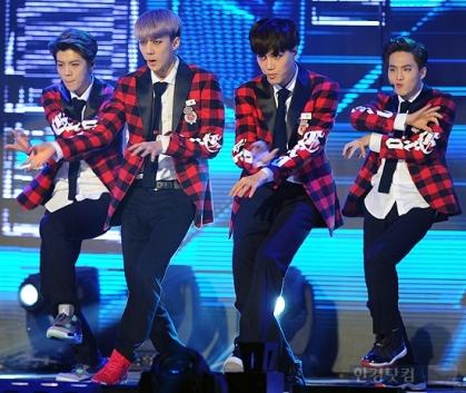 Luhan, Sehun, Kai & Suho