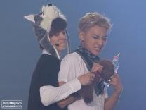 Luhan & Tao fighting over a stuffed animal