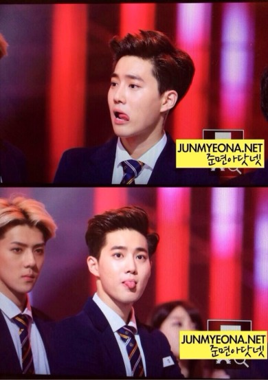 Suho and his tongue