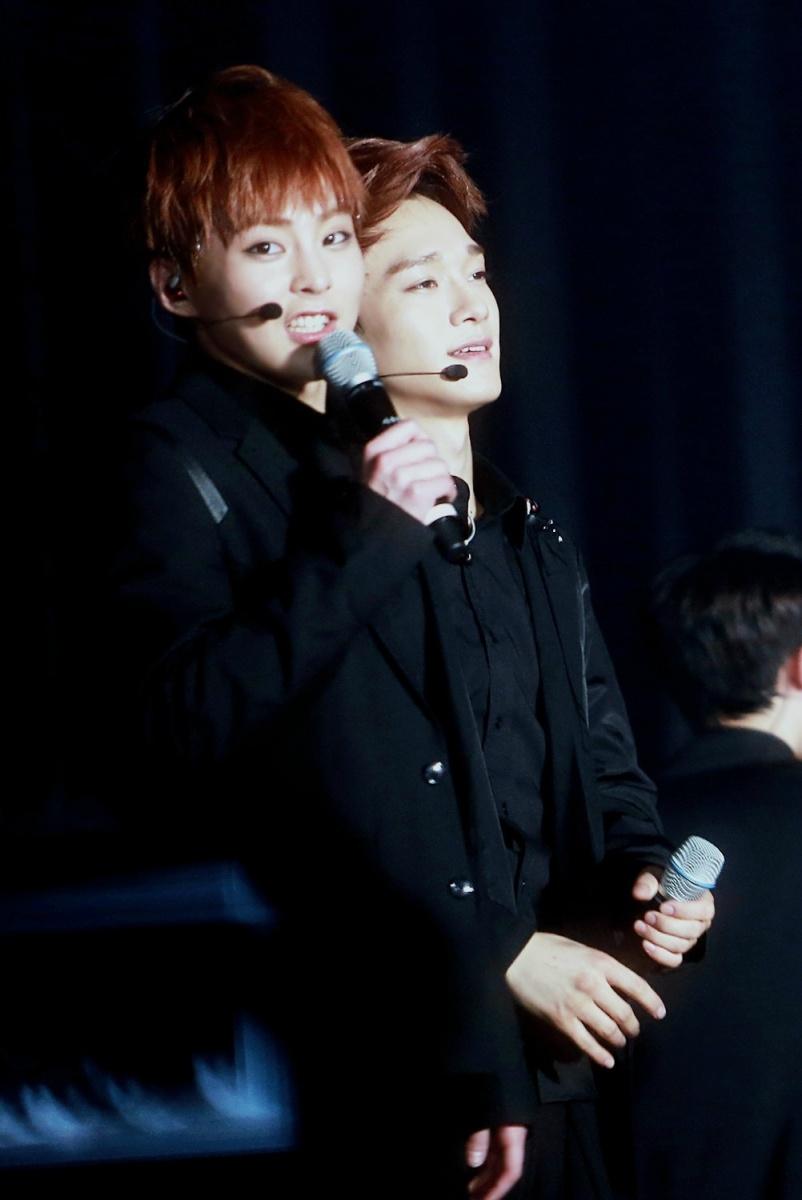 Xiumin & Chen in a...