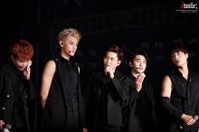 Xiumin, Tao, Suho, D.O. & Kai all in black
