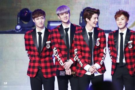 Yixing, Sehun, Luhan & Xiumin