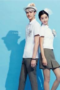 Sehun & female model