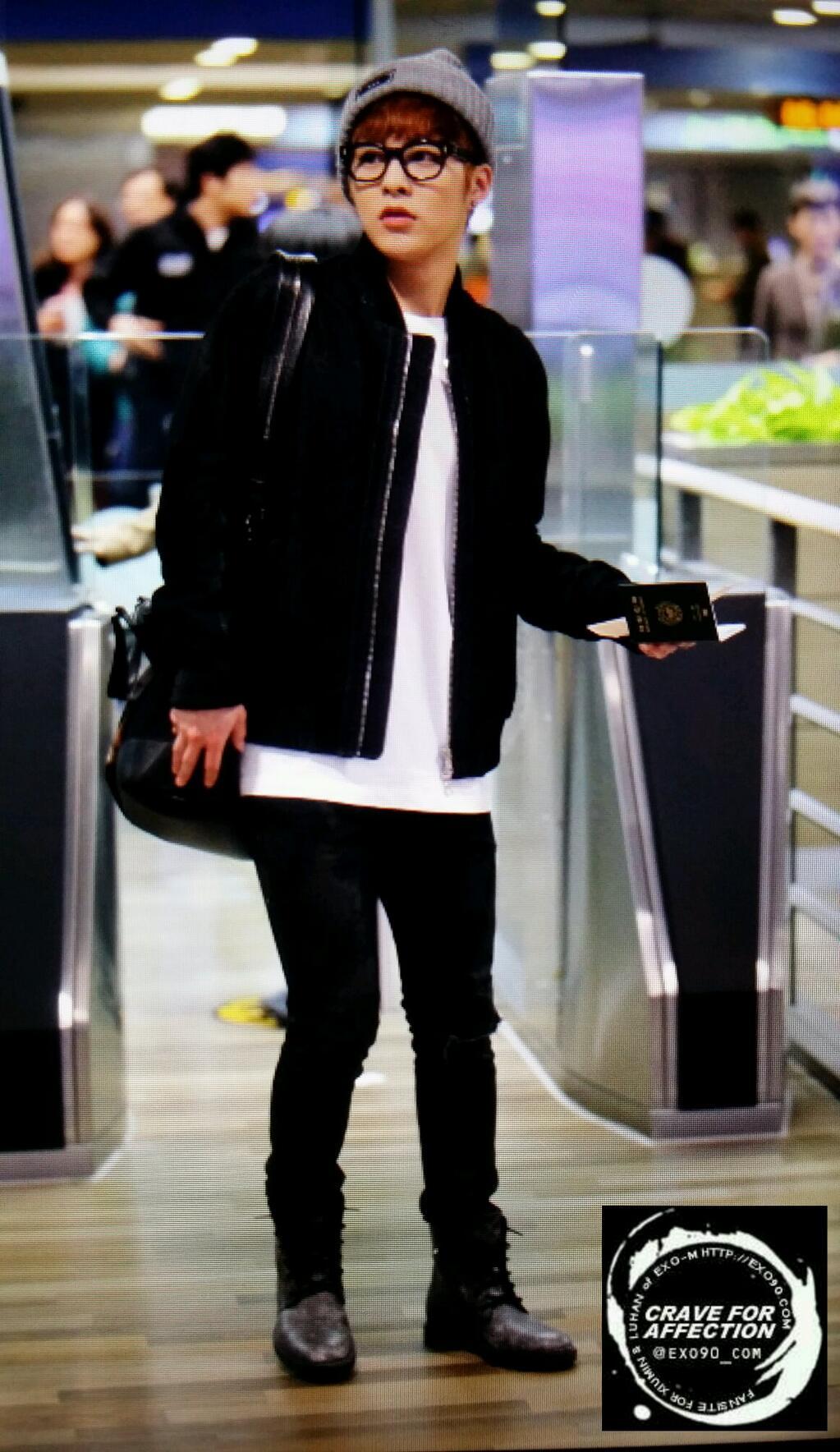 Xiumin Airport [HQ PICS] EXO-M @ ICN ...
