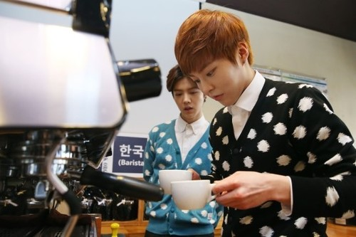 Image result for coffee and xiumin