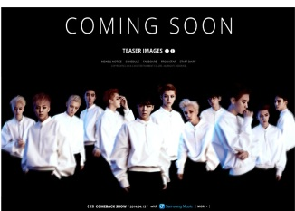 EXO website new page