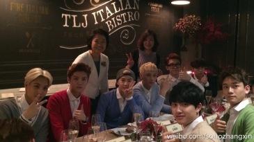 Kai, Luhan, Suho, Tao, Chanyeol, Lay, Chen & D.O.