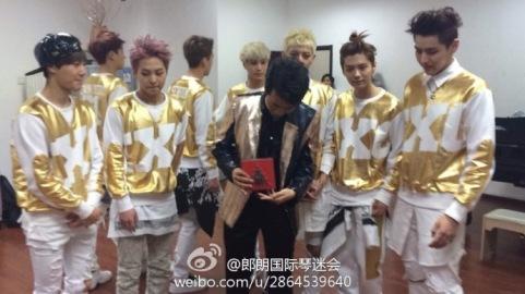 Suho, Xiumin, Kai, Tao, Luhan, Kris & 张郎