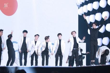 Tao, Baekhyun, Chanyeol, D.O., Suho, Xiumin, Sehun, Kai & Lay