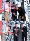 冯小刚 touches Kris's bald head