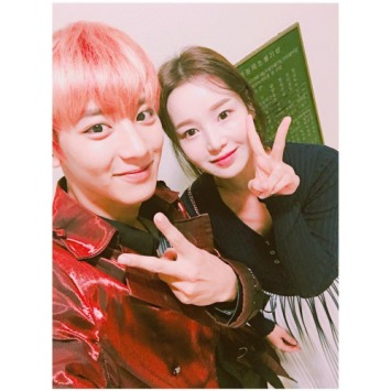 nam_gyuri: Thank you for the invitation to pretty Yeolie🍒's concert The Dance. Music. Guitar. Performance. The best 🙊 #EXO #Concert #Chanyeol #Exo (160731)