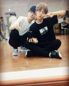 baekhyunee_exo: We are friends, aren't we 💪 💪 @kasper0524 (160817)