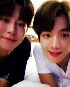 baekhyunee_exo: hyuk-ee hyun-ee #13thprinceJoohyuk #10thprinceBaekhyun #MoonLovers #ScarletHeartRyeo (160824)