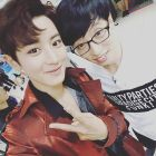 real__pcy: You went through so much trouble for about a month 🙈 now, stretch your legs out and sleep tight 🙊 #ourmaknae #JaesukieHyung #letsgettogetheragain (160911)